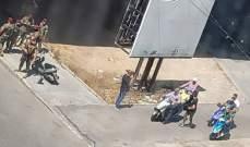 إنتشار للجيش اللبناني في محيط جسر الرينغ بعد تجمع لعدد من شبان الخندق الغميق