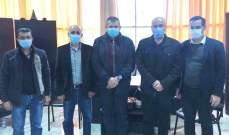"""وفد من """"حزب الله"""" زار مقر منسقية قضاء الزهراني في """"الوطني الحر"""" مهنئا بالميلاد"""