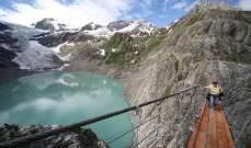 انحسار نهر جليدي في سويسرا بسبب التغير المناخي