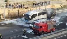 أدرعي: إصابة حافلة إسرائيلية نتيجة إطلاق الصواريخ من غزة