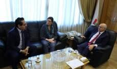 ابو سليمان بحث مع الاونروا خطة وزارة العمل لتنظيم اليد العاملة غير اللبنانية