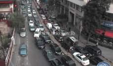 حركة المرور كثيفة من جسر برج حمود ومن ساحة ساسين باتجاه كنيسة السيدة