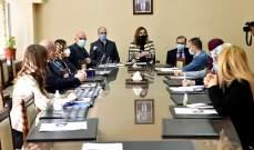 عبد الصمد بحثت مع حسن مضمون مسودة خطة إعلامية أعدتها وزارة الإعلام حول اللقاح