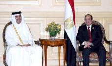 """الرئيس المصري وأمير قطر تبادلا التهنئة لأول مرة منذ بيان قمة """"العلا"""""""