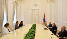 أوهانيان التقت سركيسيان في أرمينيا: العدالة هي المطلب الثابت لكل شعوب الأرض