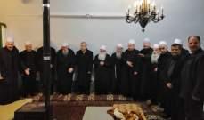 لجنة تواصل المجلس المذهبي واصلت لقاءاتها الروحية على المرجعيات الدينية ومشايخ الطائفة