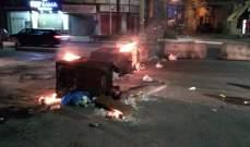 النشرة: قطع عدد من الطرقات تضامنا مع المحتجين في بيروت