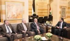 الحريري عرض مع علاوي لمجمل المستجدات وللعلاقات الثنائية بين لبنان والعراق