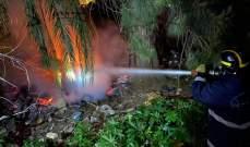 الدفاع المدني: حريق أعشاب وأشجار في برج البراجنة