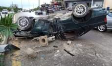 النشرة: حادث سير على طريق المصيلح – النبطية بسبب تسرب للزيت