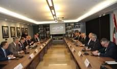 الهيئات الاقتصادية عرضت مع فنيانوس قضايا لها علاقة بوزارة الاشغال