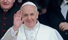 البابا فرنسيس دعا إلى وقف القتال في إسرائيل والأراضي الفلسطينية