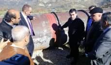 أبي خليل عاين انزلاق التربة في كفرنيس برفقة الوزير غطاس خوري واللواء محمد خير