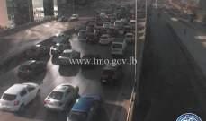 حركة المرور كثيفة من النقاش بإتجاه أنطلياس وصولاً الى الزلقا