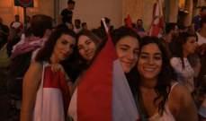 صور جميلة في تظاهرة وسط بيروت