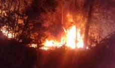 النشرة: اخماد حريق في منطقة عين الجوز خراج بلدة شبعا