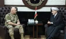 قائد الجيش بحث مع الشعار وبانو بالأوضاع العامة والتقى وفدا عسكريا أردنيا