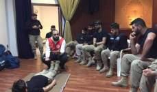 الصليب الاحمر اللبناني يدرب شرطة بلدية حارة صيدا على الاسعافات الاولية