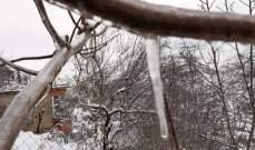 النشرة: تساقط الثلوج في منطقة حاصبيا في ظل موجة من البرد القارس