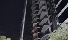 اندلاع حريق في بناية سكنية فاخرة في دبي
