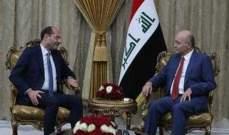 حسن مراد: حريصون على تطوير العلاقات التجارية والاقتصادية مع العراق