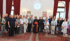 الراعي التقى الضاهر وسفيرة تشيلي ووفد كهنة بولنديين ووفدا بلدية واختيارية