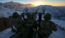 وزارة الدفاع التركية: تحييد 6 مسلحين ومقتل جنديين تركيين شمالي العراق