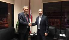 جريصاتي أكد مع لازاريني اهمية الشراكة البيئية وتحقيق التنمية المستدامة