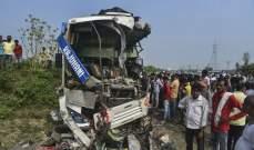 12 قتيلاً بحادث إنحراف حافلة في الهند