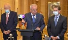 سكرية: عملية الإنقاذ تتطلب تغييرا بالنهج والأداء ونتمنى على حكومة الحريري أن تنتزع ثقتنا وثقة اللبنانيين