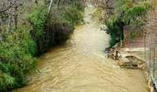 النشرة: ارتفاع منسوب الحاصباني نتيجة تساقط الامطار وتسبب باضرار
