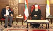 شيخ العقل التقى سفير مصر ورئيس طائفة الاقباط