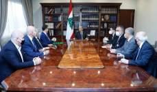 الرئيس عون أكد متابعته الحثيثة لعملية مسح الاضرار الناجمة عن انفجار المرفأ