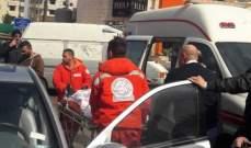 النشرة: جريحان بحادث سير على اوتوستراد كفرمان الجديد