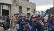 اعتصام أمام مبنى مصلحة الجمارك في طرابلس الميناء
