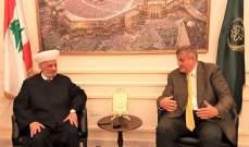 دريان التقى كوبيش وبحث معه في الشؤون اللبنانية والعربية