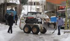 النشرة: آليات بلدية شبعا باشرت بإزالة الثلوج عن الطرقات