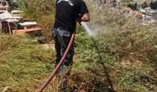 النشرة: عناصر إطفاء سرية صيدا أخمدوا حريق محرك سيارة وآخر شب بقصب وهشير