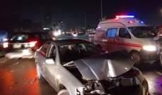 النشرة: جريحان في حادث بين 5 سيارات في صيدا