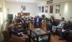 كيدانيان عرض العلاقات المشتركة مع وزير التنمية الاقتصادية في ارمينيا