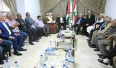قطار المصالحة الوطنية يجمع القوى الفلسطينية في مقر حماس في بيروت