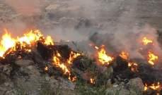 احراق نفايات في محلة الصومعة بأعالي الضنية
