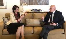 سلام عرض تطوراتالاوضاعفيلبنانوالمنطقة مع سفيرة أستراليا