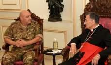 الراعي استقبل قائد الجيش: لضبط الامن والحؤول دون الفلتان الامني في الشارع