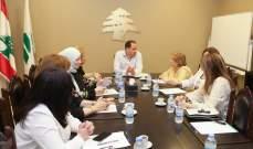 وفد من المجلس النسائي عرض للجميل اقتراح قانون لتبني الكوتا بالانتخابات البلدية