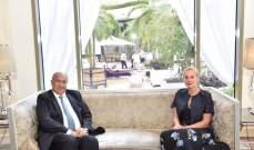 مخزومي استعرض مع كاغ آخر التطورات في أزمة النازحين والحلول المطروحة