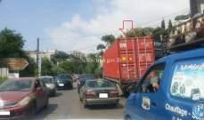 تعطل شاحنة على طريق عام الرابية محلة مفرق مستشفى سرحال