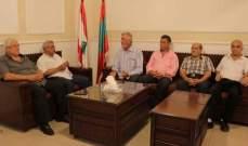 أسامة سعد يستقبل وفدا من الاتحاد العام لعمال فلسطين في لبنان