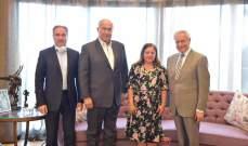 مخزومي استقبل رئيس الجامعة الاميركية في بيروت في زيارة وداعية