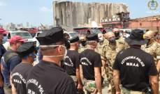 قائد الجيش تفقد أطقم البحث والإنقاذ المحلية والأجنبية في مرفأ بيروت